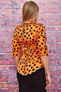 Блуза в горошек с коротким рукавом Т4481