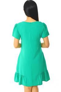 Платье короткое классическое однотонное Н5939