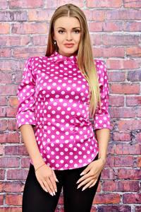 Блуза в горошек розовая Т4482