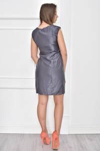 Платье короткое однотонное без рукавов Т7476