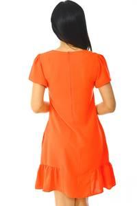 Платье короткое классическое красное Н5940