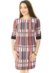 Платье короткое трикотажное облегающее Н6171