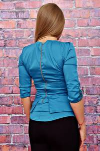 Блуза голубая Т4495