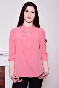 Блуза розовая с коротким рукавом Р8820