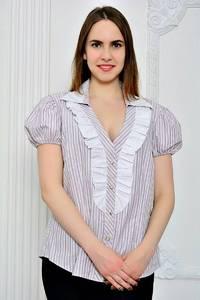 Рубашка в полоску с коротким рукавом П9270