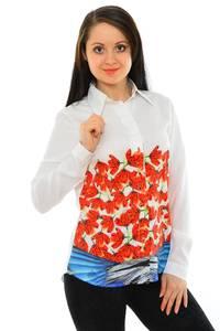 Рубашка белая с принтом М8800