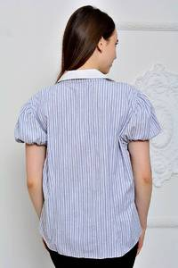 Рубашка в полоску с коротким рукавом П9271