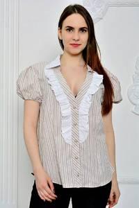 Рубашка в полоску с коротким рукавом П9272