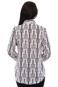 Рубашка белая с принтом М8802
