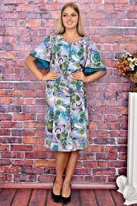 Платье короткое с принтом элегантное Т5931