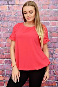 Блуза розовая с коротким рукавом Т4508