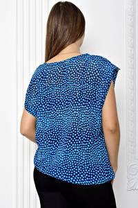 Блуза голубая с коротким рукавом Т1875