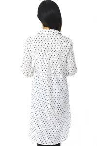 Рубашка-туника белая с длинным рукавом Н5958