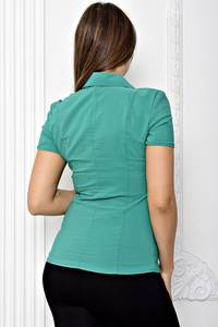 Рубашка однотонная с коротким рукавом Т1876