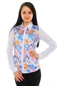 Рубашка белая с принтом М8817