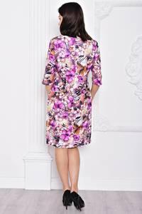 Платье короткое с принтом элегантное С9691