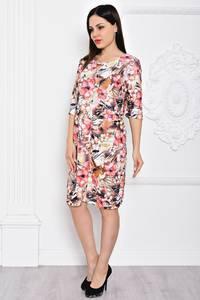 Платье короткое с принтом элегантное С9692