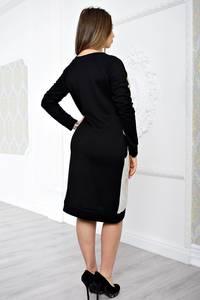 Платье короткое повседневное с длинным рукавом С0007