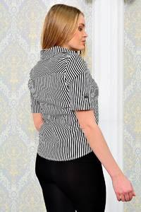 Рубашка в полоску с коротким рукавом П9013