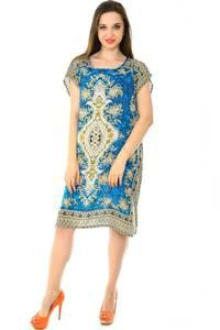 Платье короткое трикотажное нарядное Н7163
