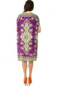 Платье короткое трикотажное нарядное Н7165