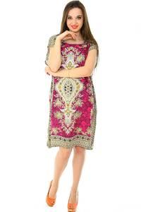 Платье короткое трикотажное нарядное Н7166