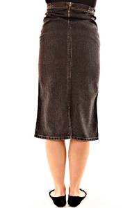 Юбка для беременных миди джинсовая Л7622