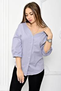 Рубашка однотонная с коротким рукавом Т1888