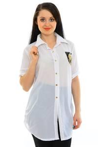 Рубашка прозрачная белая М7905