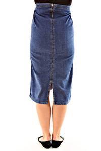 Юбка для беременных миди джинсовая Л7623