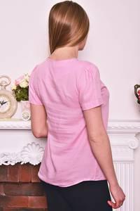 Блуза розовая с коротким рукавом Р8277
