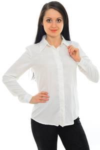 Рубашка белая с длинным рукавом М8838