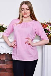Блуза розовая с коротким рукавом Р8280