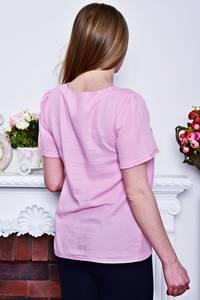 Блуза розовая с коротким рукавом Р8284