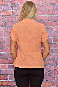 Рубашка с коротким рукавом однотонная Т5949