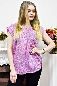 Блуза розовая с коротким рукавом Р9400