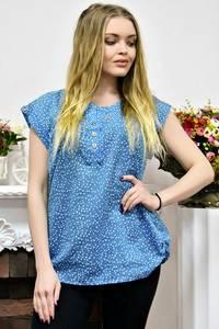 Блуза голубая с коротким рукавом Р9401