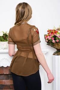 Рубашка прозрачная с коротким рукавом Р5279