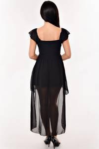 Платье короткое элегантное черное К1608