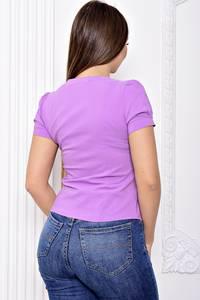 Блуза с кружевом с коротким рукавом С9126