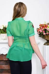 Рубашка прозрачная с коротким рукавом Р5281