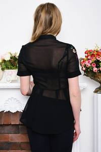 Рубашка прозрачная с коротким рукавом Р5283