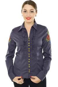 Рубашка с кружевом с длинным рукавом Н8328