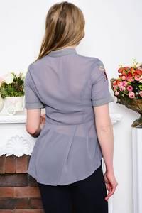 Рубашка прозрачная с коротким рукавом Р5286