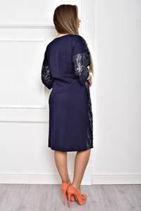 Платье короткое однотонное элегантное Т2061