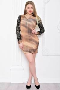 Платье короткое с длинным рукавом облегающее С7585