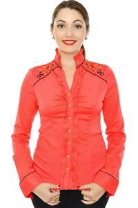 Рубашка красная с кружевом Н8331