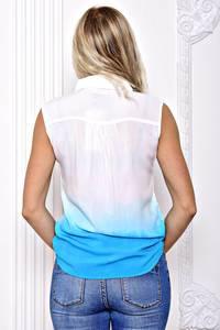 Рубашка белая прозрачная с коротким рукавом С8378