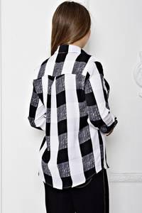 Рубашка с длинным рукавом в полоску Т1908