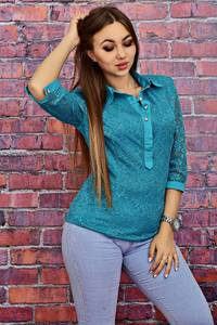 Блуза с кружевом Т4175